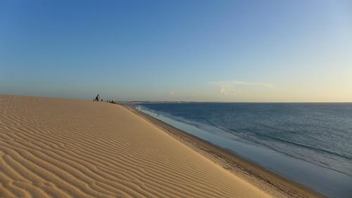 Sulla duna ad ammirare il tramonto