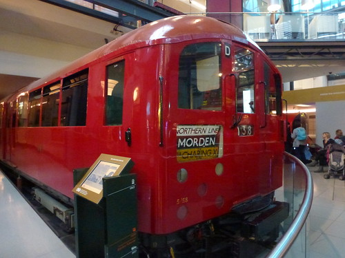 Tube train on display