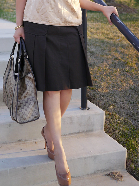 escada skirt - marc jacobs top - ysl tribtoo7