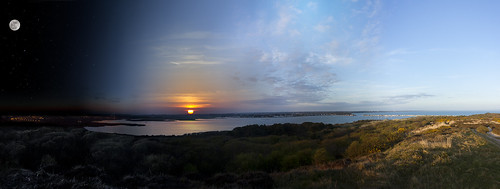 sunset christchurch panorama night sunrise day dorset