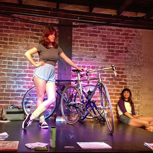 Cute girls on bicycles #drsketchy #drsketchys #aidslifecycle