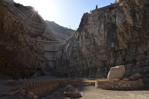 china sun sunrise soleil nikon dam rays shanxi barrage chine rayons leverdesoleil d800 hengshan xuankongsi hangingtemple templesuspendu huankongsi solangeb