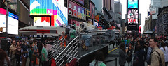 Giant Lego X-Wing in Times Square #NYC