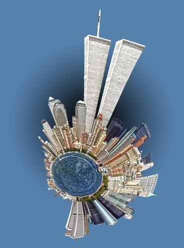 twin towers nyc skyline by DigiDreamGrafix.com