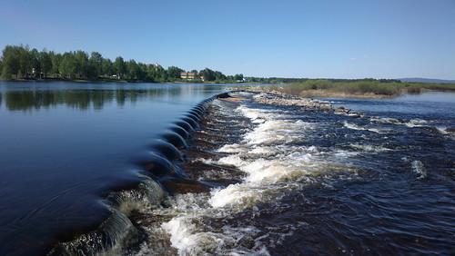 summer finland river lapland weir kittilä ounasjoki nokia808pureview
