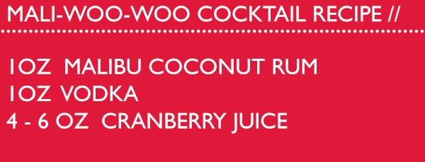 Mali Woo Woo Cocktail Recipe