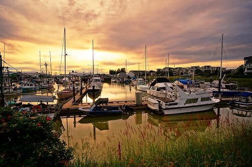 Richmond Steveston Marina at Sunset