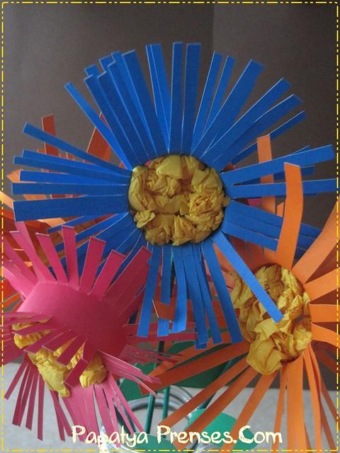 kartondan çiçekler 023