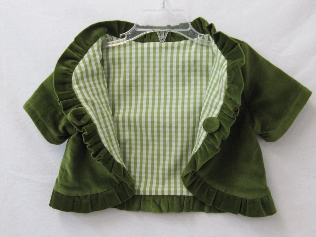 Opened bolero showing lining