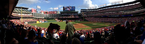 Panorama of Rangers Ballpark
