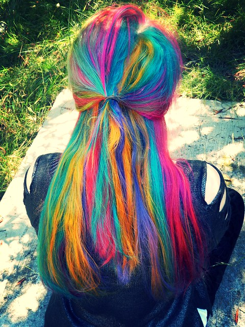 Rainbow Hair Flickr Photo Sharing