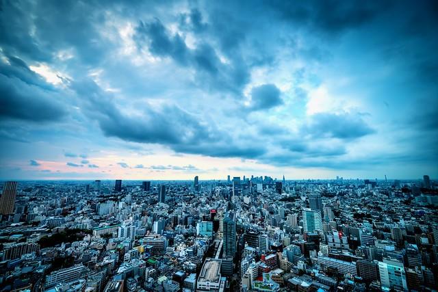 Skyline of West Tokyo