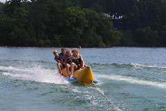 towed water sport, vehicle, sports, recreation, boating, boat,