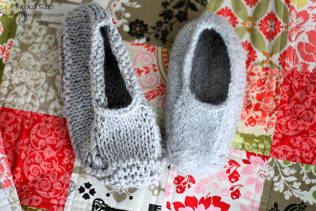 felt slipper before and after