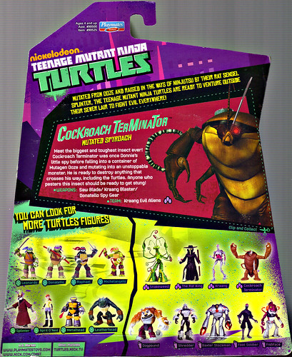 Nickelodeon  TEENAGE MUTANT NINJA TURTLES :: COCKROACH TERMINATOR ..card backer (( 2013 ))