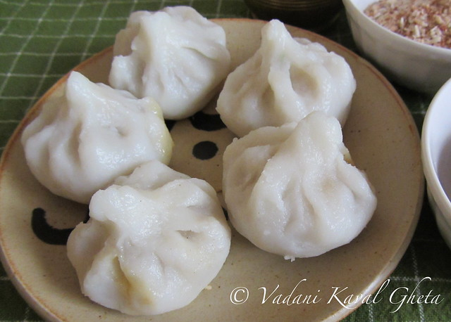 Close up of Rice Flour Modak