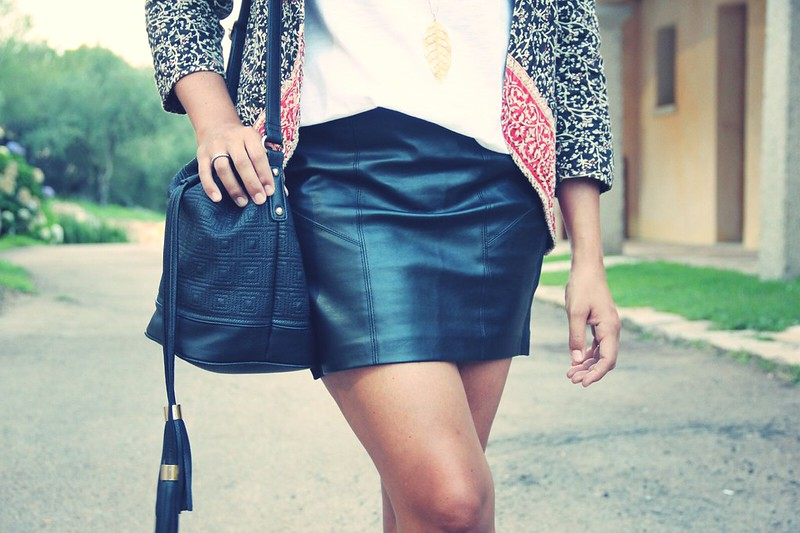 Look leather skirt - Monicositas