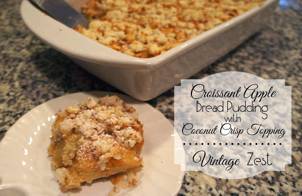 Croissant Apple Bread Pudding with Coconut Crisp Topping #shop 21