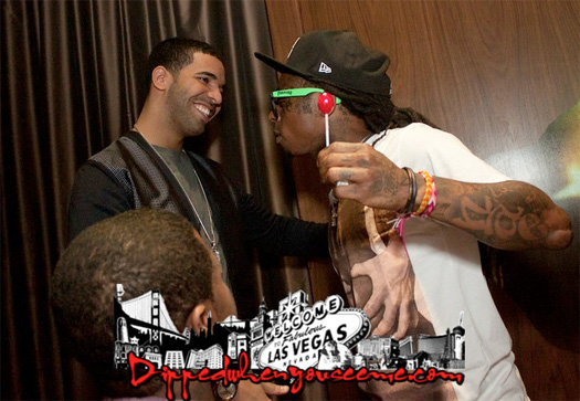 Lil Wayne Celebrating Drakes Birthday Style