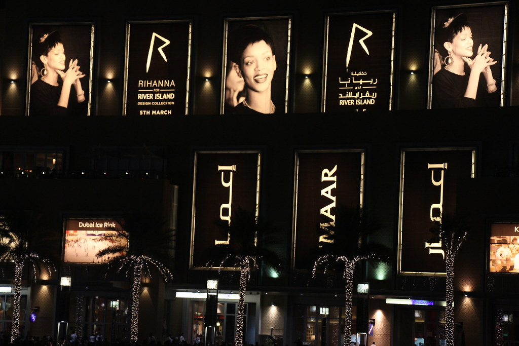 Rihanna, Rihanna for River Island, Dubai