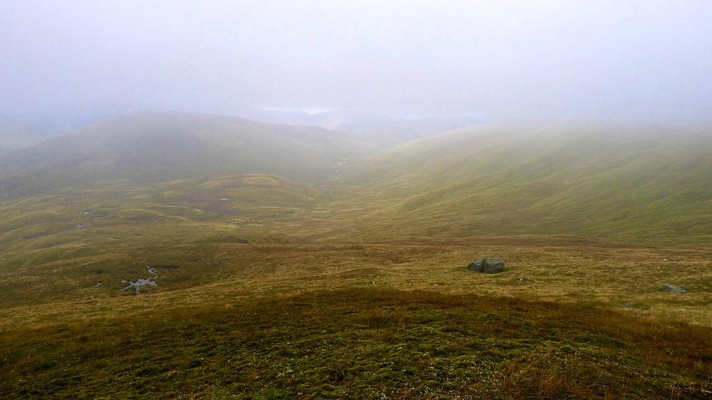 Misty view of Gleann Dà-Eig