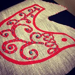 Friday night stitching. @printscharmingoriginalfabrics panel #embroidery
