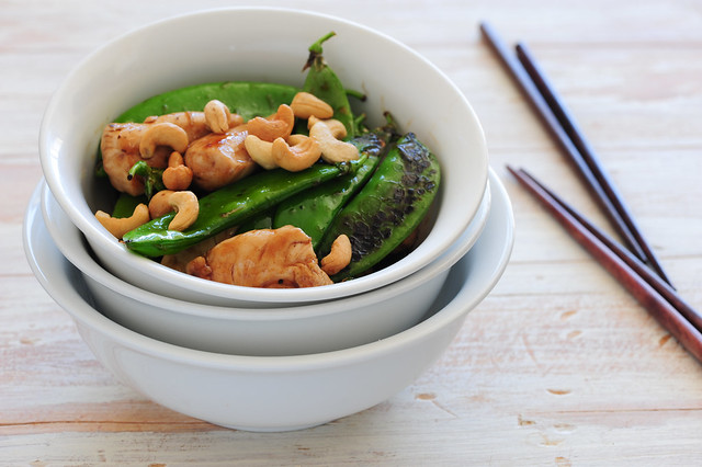 snowpea & chicken stir fry-3
