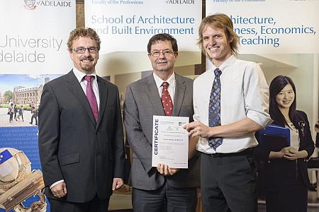 2012 Winner: Tarran Barclay Presented by Mr Michael Shanahan (Manager, Communication Technology) and Prof George Zilante (Head of School) on behalf on Mr Stephen Forbes (Executive Director, Botanic Gardens of SA)