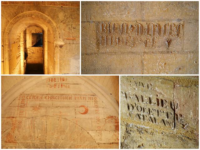 Tarascon Castle, Graffiti Montage, Provence, France