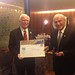 Manfred Echter from Germany - FAI Air Sport Medal - - with FAI President (left)