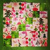 Christmas scrappy trip quilt block!