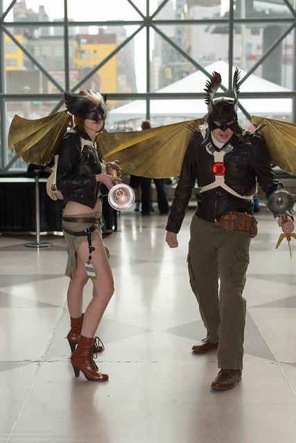 Steampunk Hawkgirl and Hawkman