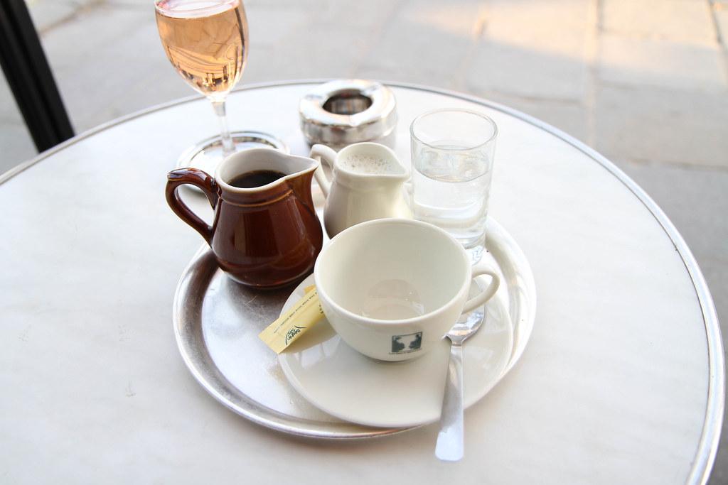 Coffee at Les Deux Magots