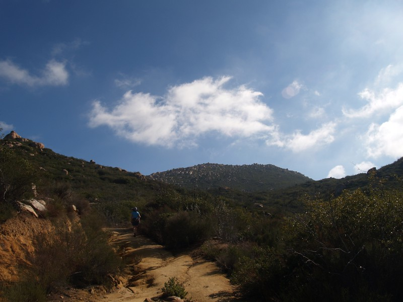 The last major ascent toward El Cajon Mountain
