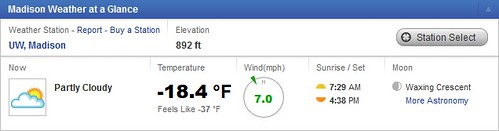 Madison WI weather as of 9:45 a.m. on Jan. 6, 2014