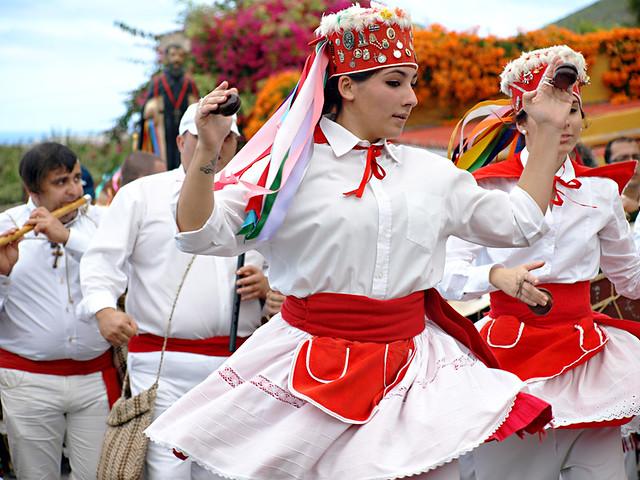 El Hierro dancers at San Abad, Buenavista del Norte, Tenerife
