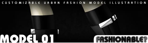 Fashionable? Model 02 - Urban Fashion Illustration