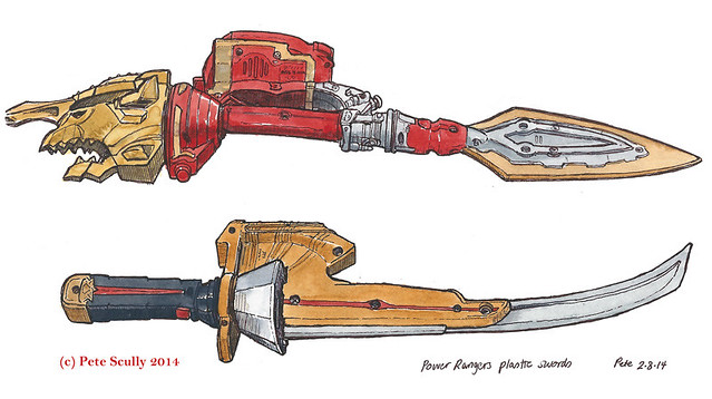 power rangers swords