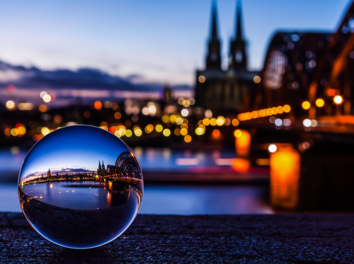 the Cologne Cathedral captured in a crystal ball (#6 on Explore)