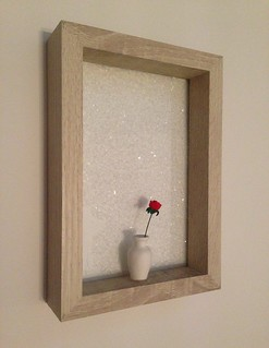 Je, t'aime ( I love you ) by Emo Raphiel Astoria 2014 (c) Installation within frame with diamond dust and miniature porcelain vase Limited edition of 7 Available at: urbanartgallery-00 (ebay)