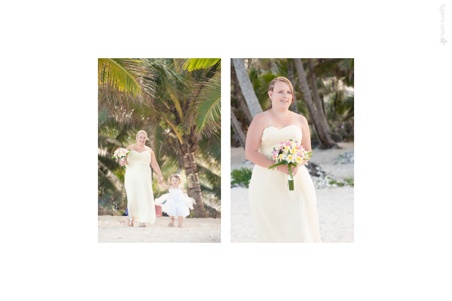 Processional. beach wedding entrance