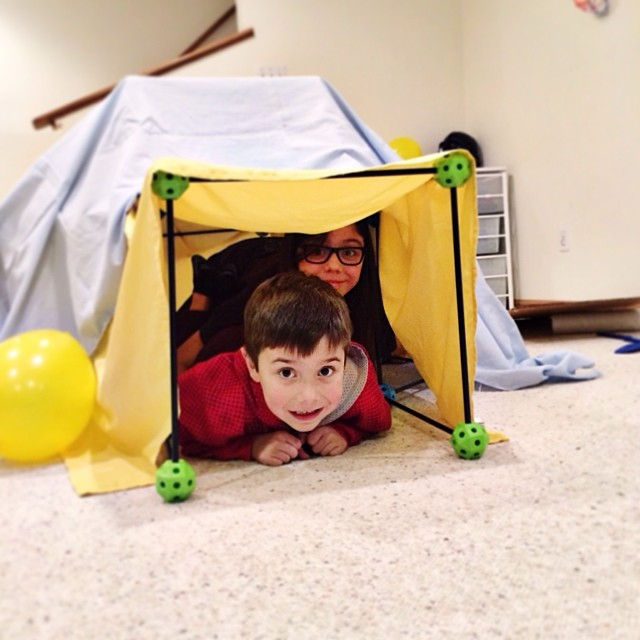 Fort building for kids