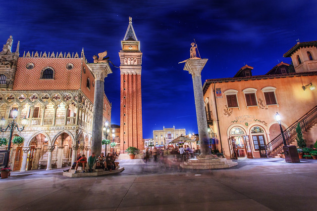 EPCOT's Italy at Night