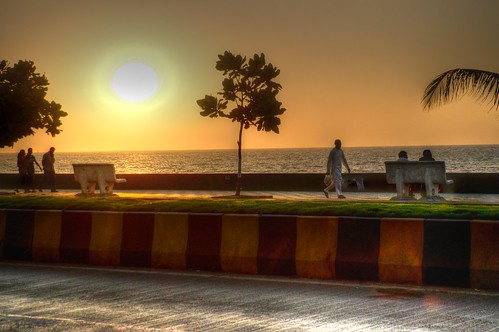 sunset india mumbai hdr asbunplugged