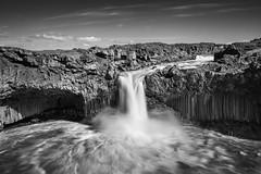 Waterfall Aldeyjarfoss - northern Iceland