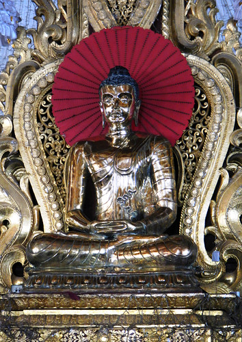 Brass Buddha at the Atumashi Monastery in Mandalay, Myanmar