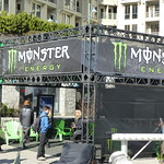 Awesome music coming from the Monster Energy tent!