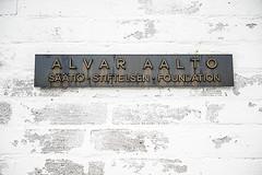 Photo of Alvar Aalto bronze plaque