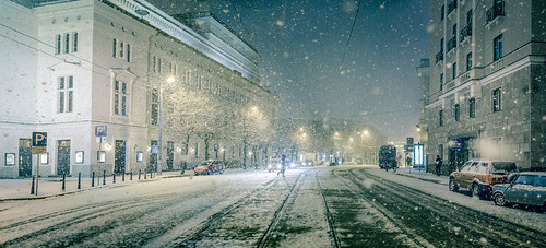 Sudden Blizzard in Riga