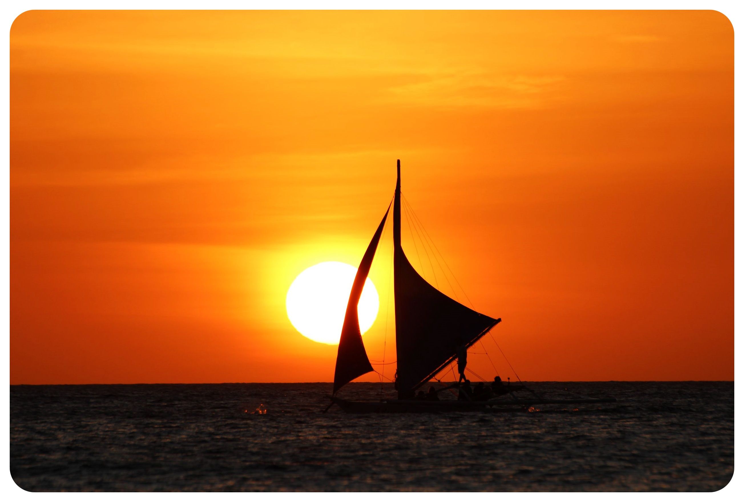 boracay sunset with boat